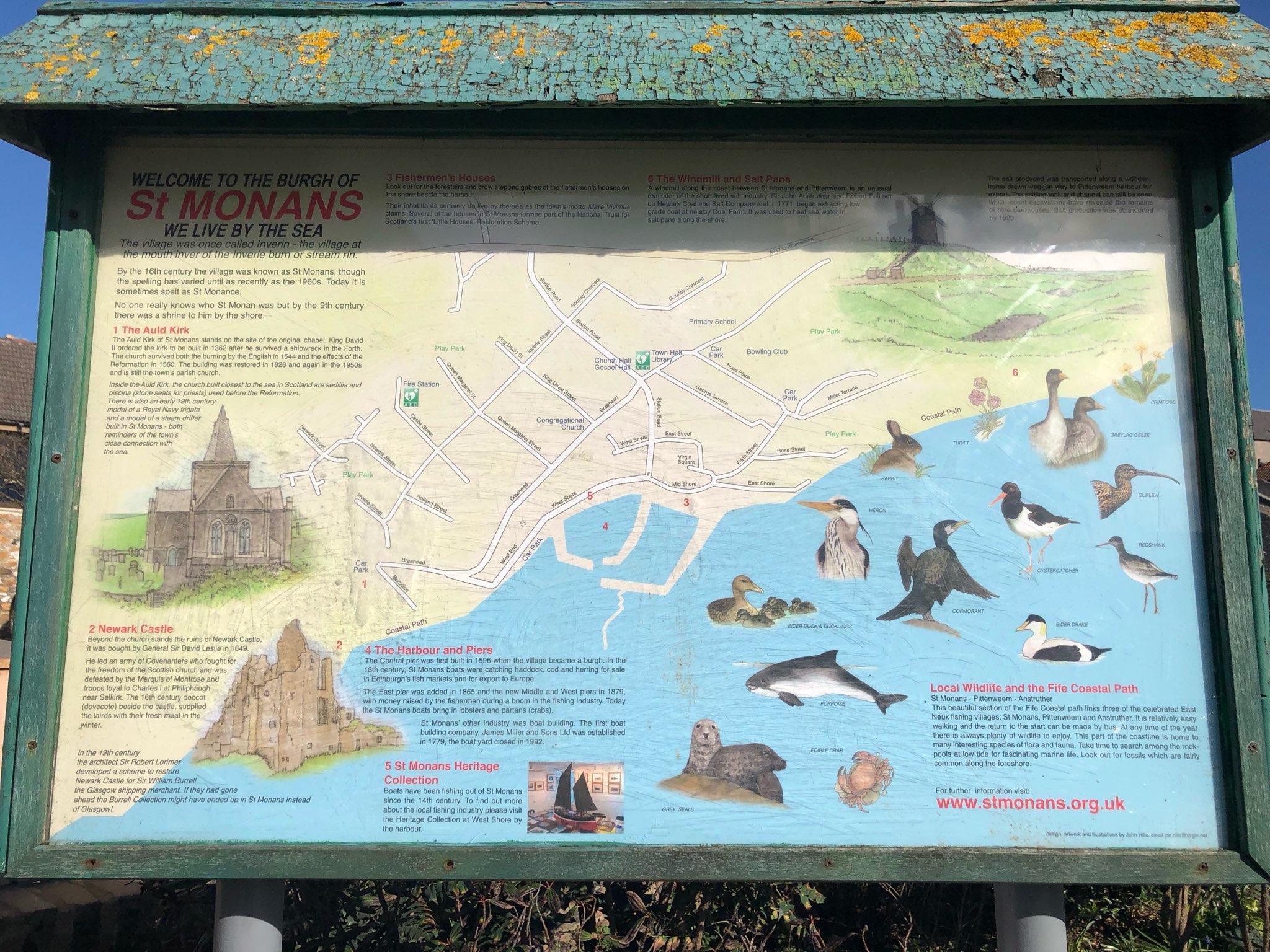St Monans East Neuk of Fife town map
