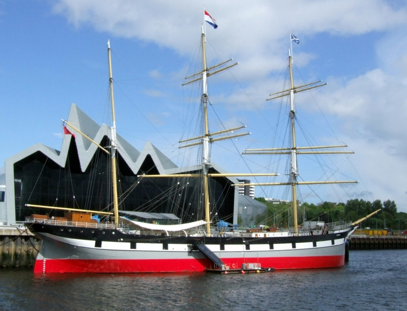The Riverside Museum and the Glenlee