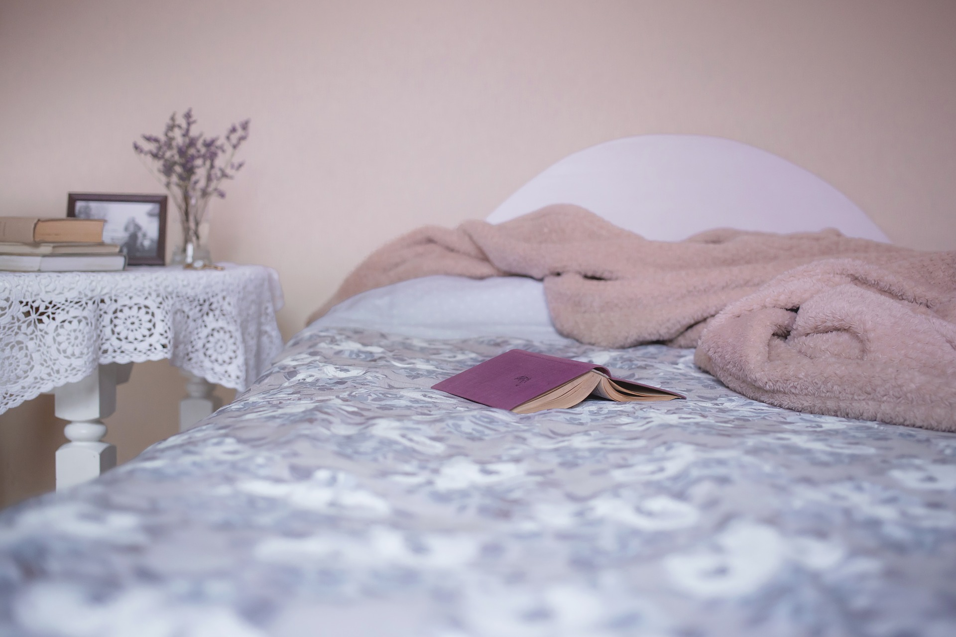 soft furnishings on bed