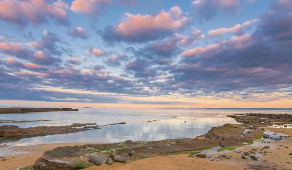 Anstruther Fife Sunset Coastal Seaside