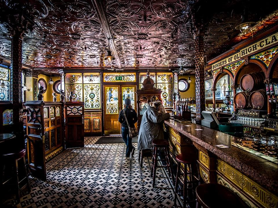 The Crown Bar Belfast Northern Ireland traditional bar crawl