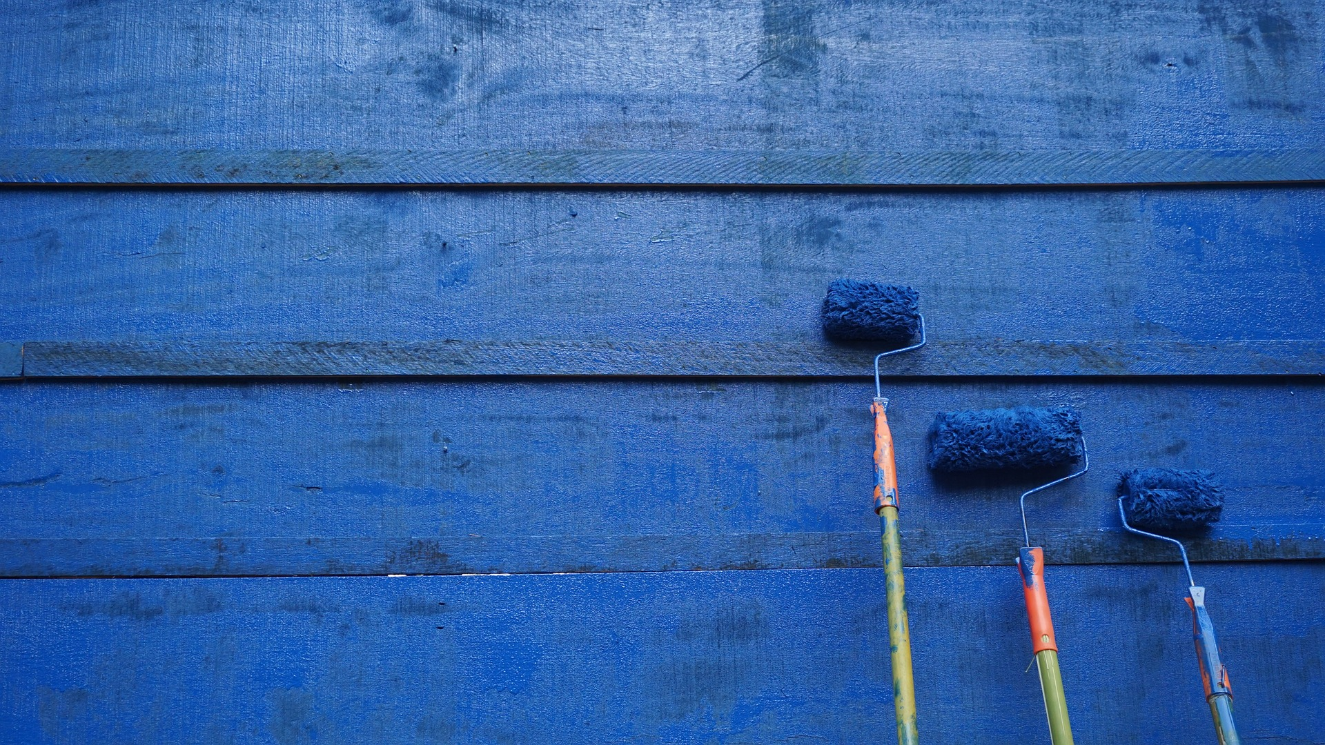 Wall painting brushes