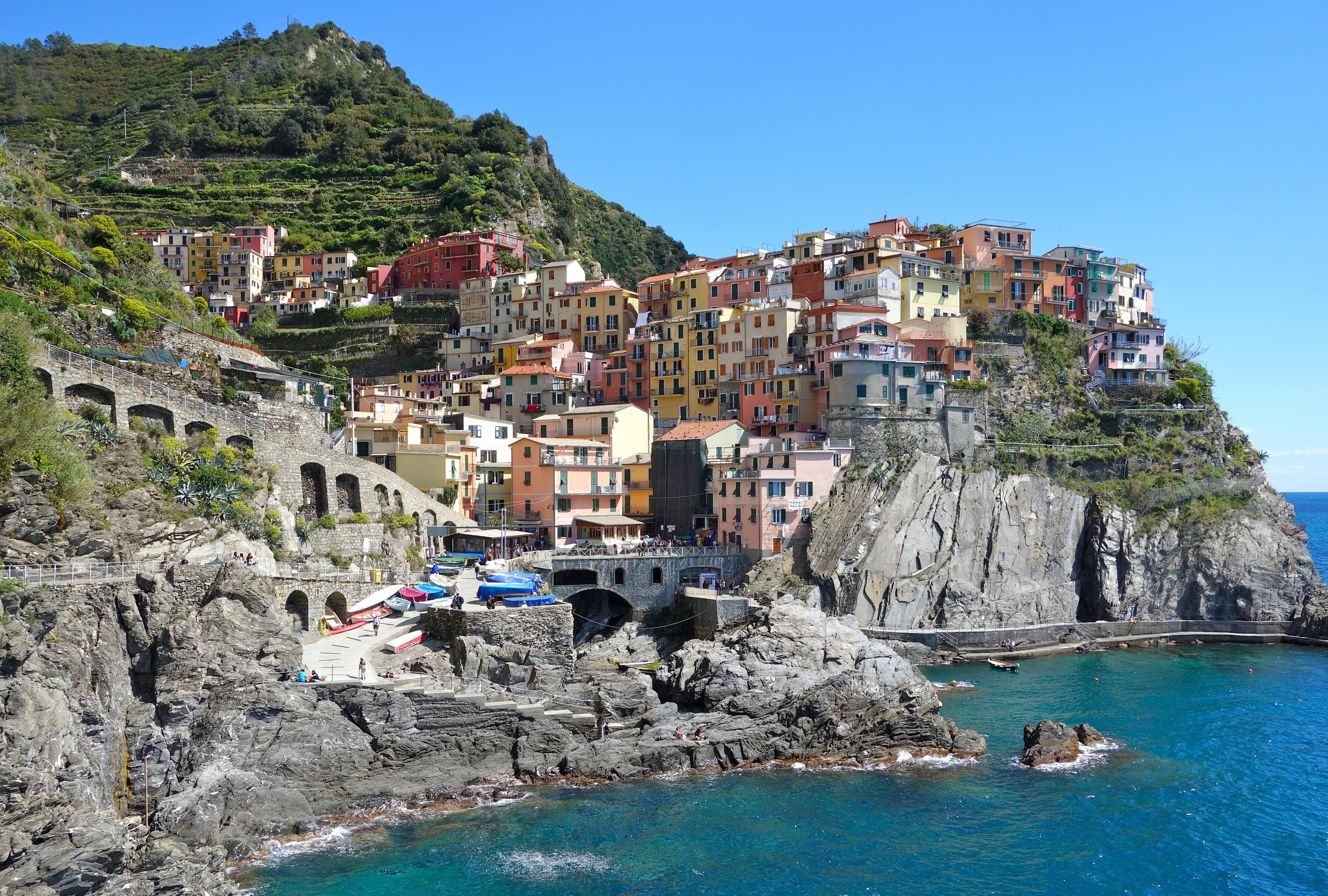 Amalfi Coast Italy multi coloured houses