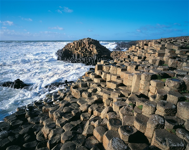 The Giant's Causeway rock formation coast Northern Ireland Couny Antrim