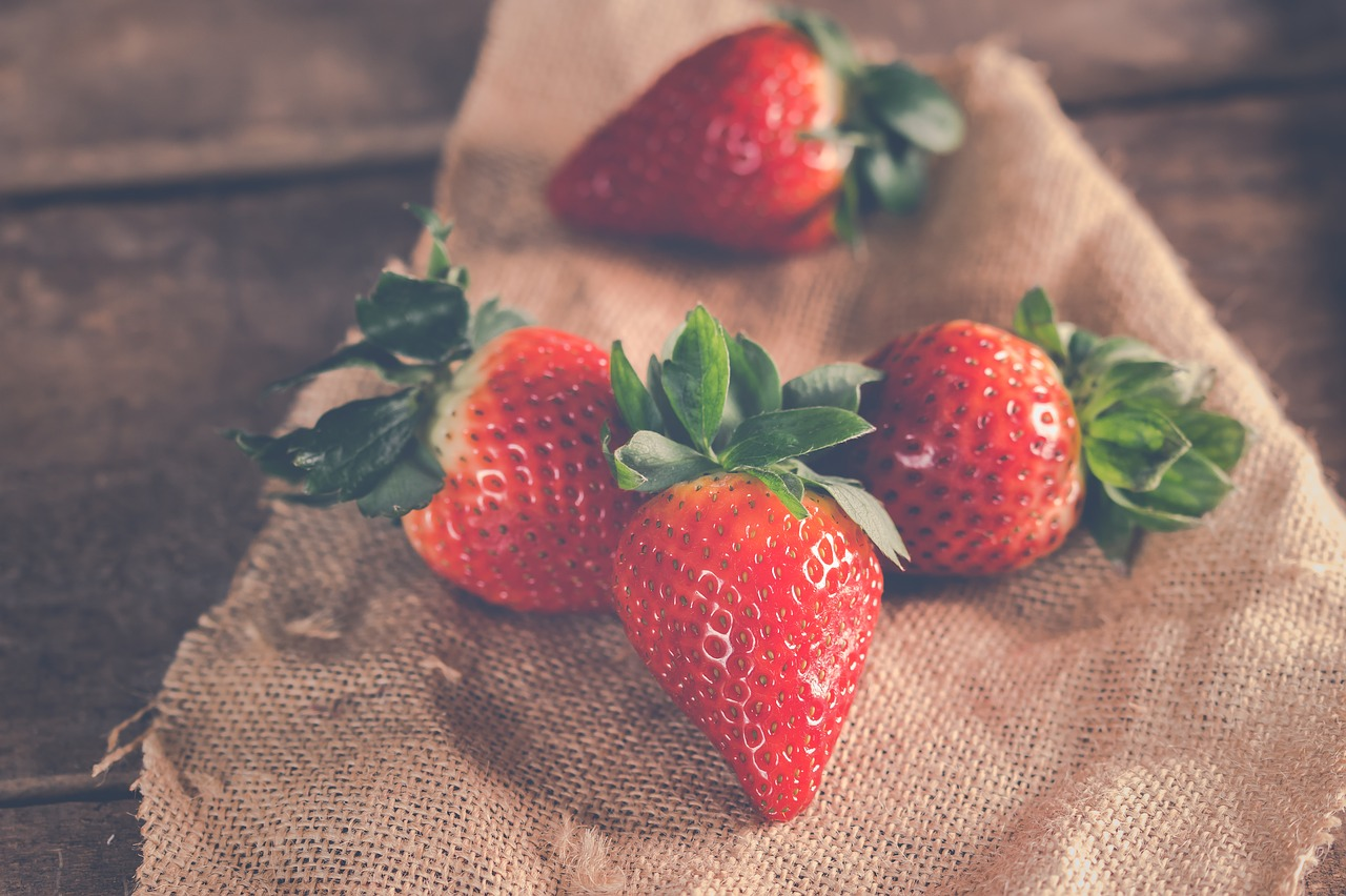 Strawberries perfect snack fruit healthy