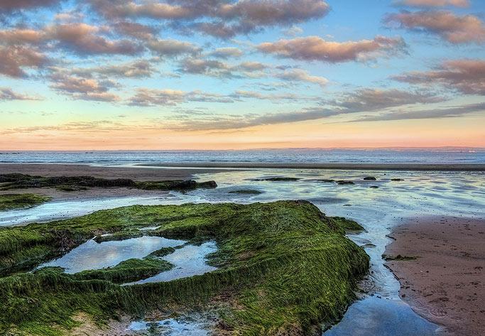 Fife Coastal Path sunset sea view