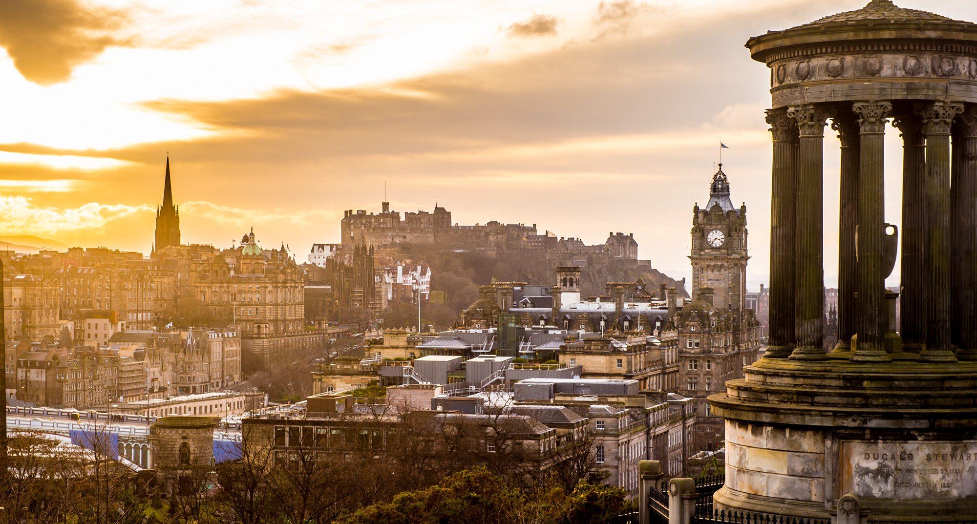 Edinburgh skyline Scotland